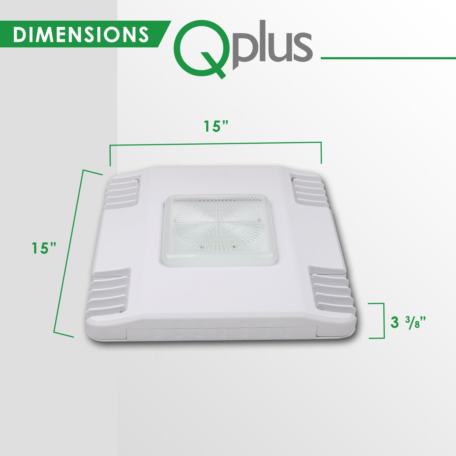 QPLUS Gas Station LED Canopy Light - 5000K Day Light - IP65 /cULus 130 Watts/14528 Lumens