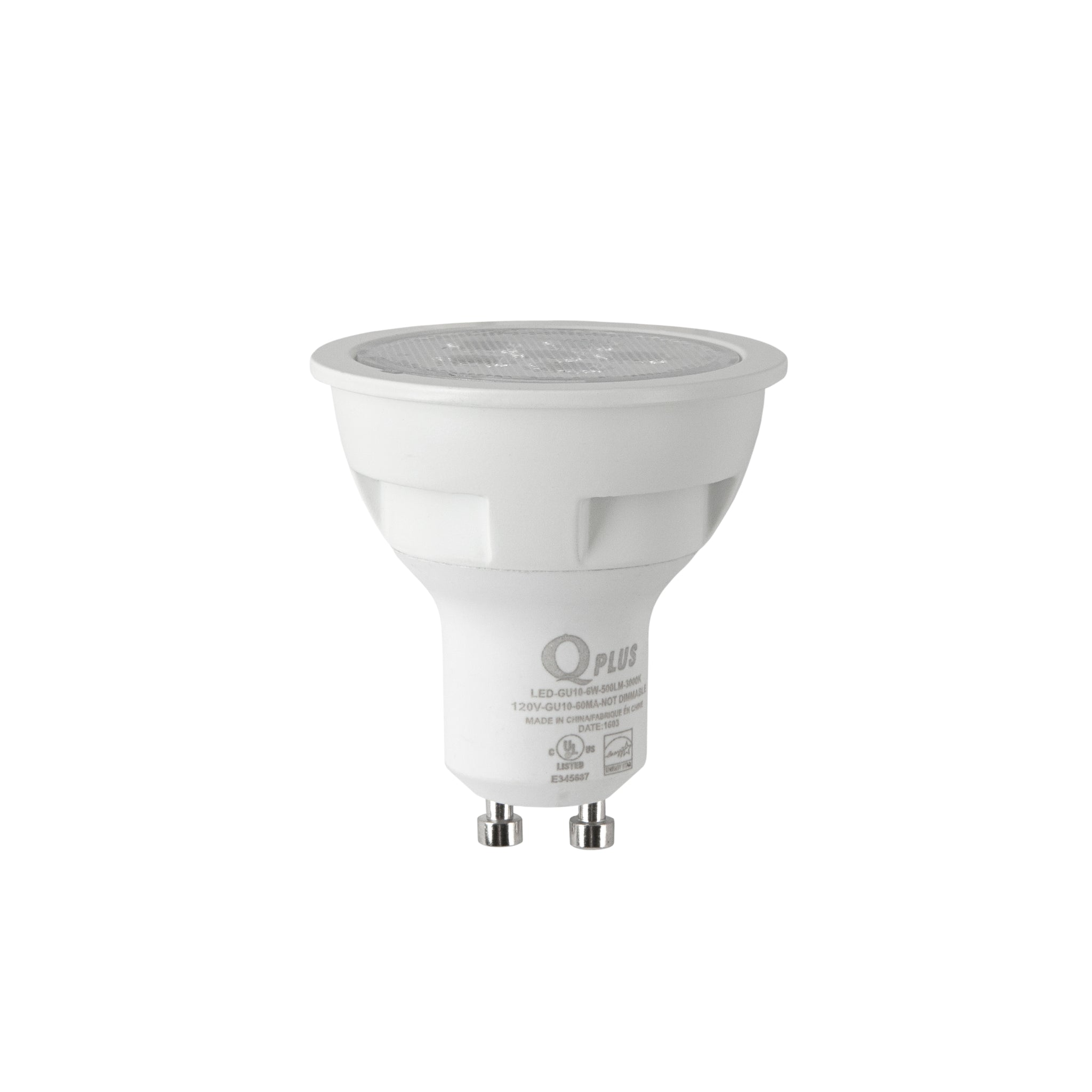 QPlus GU10 LED Bulbs 6W 50W Halogen Bulb Equivalent Warm White 3000K 500lm dimmable 120V