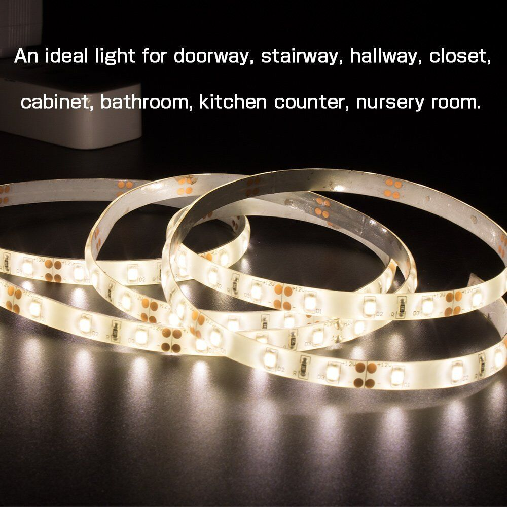 QPlus LED Strip Lights for Closet/ Cabinet or Hallway - Rechargeable Battery  (3000K & 4000K) 1M Roll