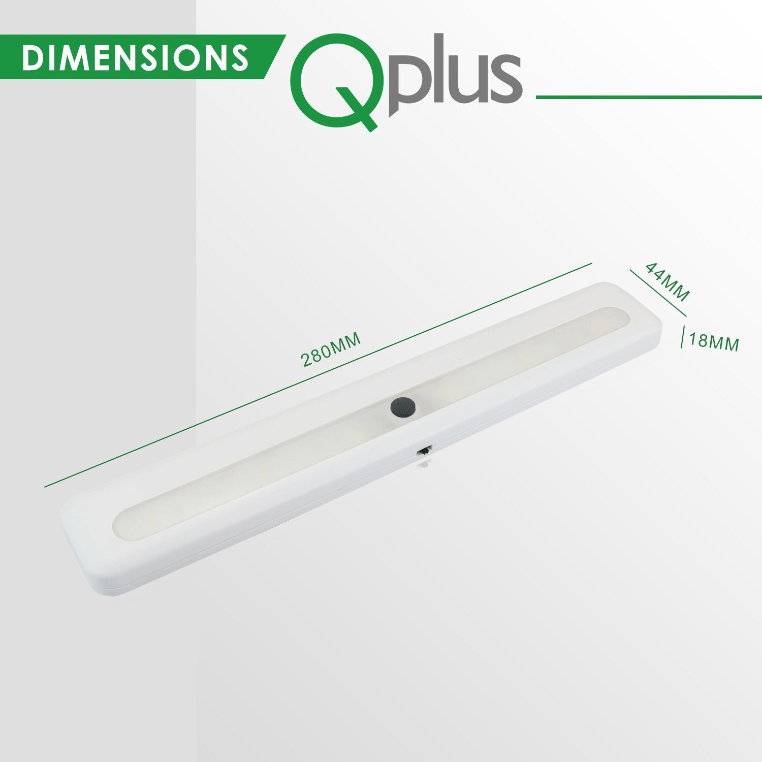QPlus LED Under Cabinet/Closet Lights - (Set of 3) 3000K or 4000K