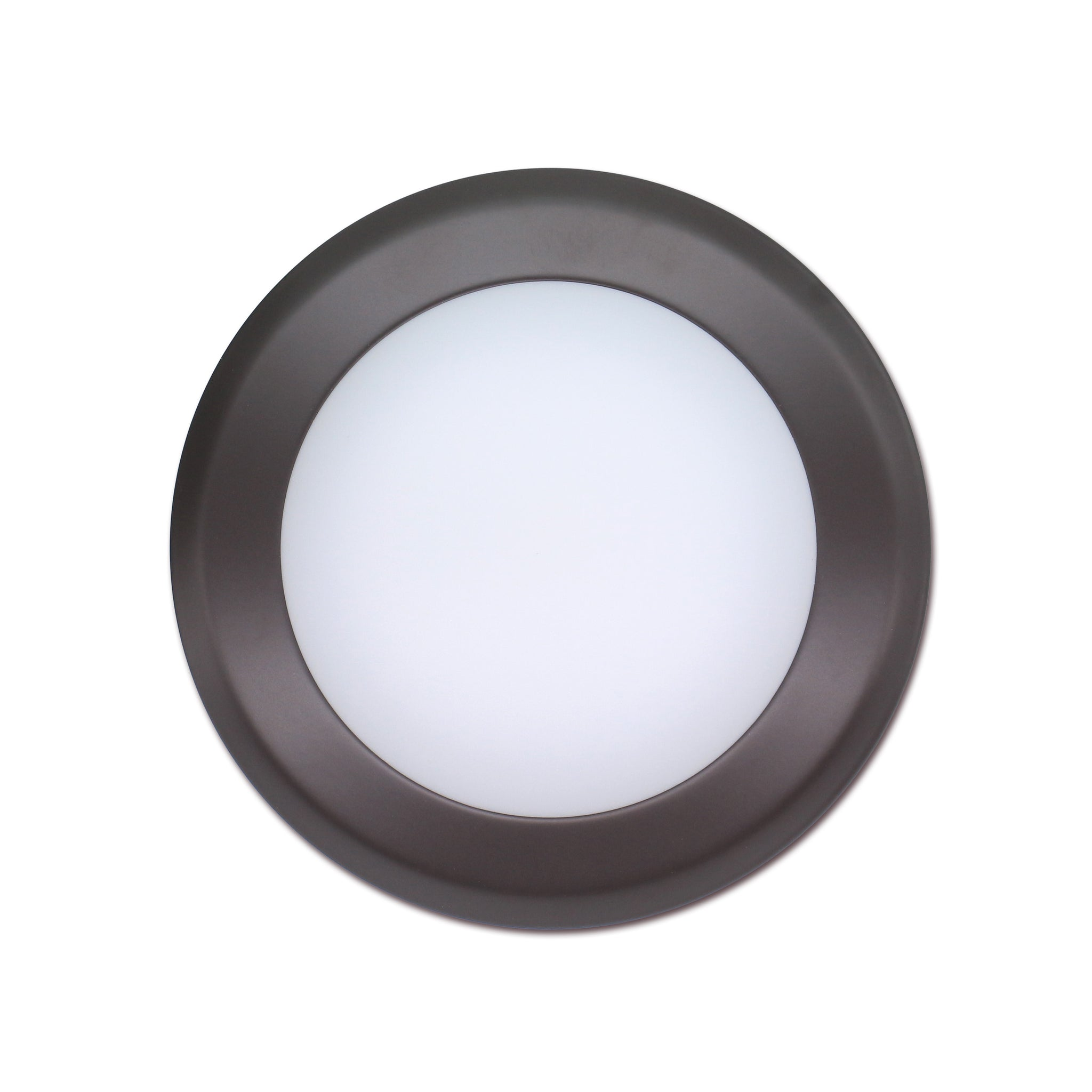 QPlus 7.5 Inch Round LED Dimmable Ceiling Disk Light 15W/1050 Lumens 5000K in Bronze, White & Silver Metal Trims