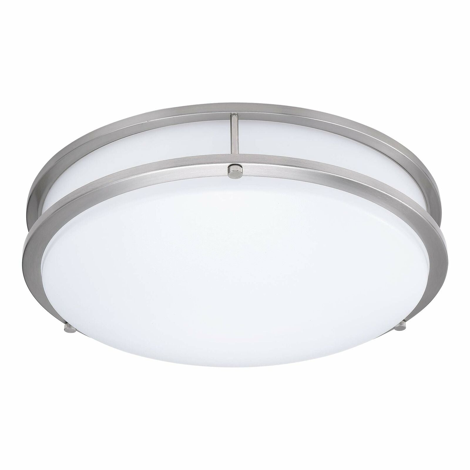 QPlus 12 Inch LED Architectural Flush Mount 20Watts - Brushed Nickel