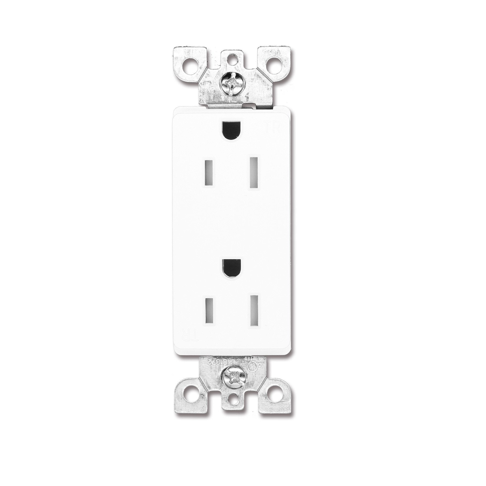 QPLUS 20Amp Tamper Resistant Wall Outlet - UL Listed (Wall Plates & Screws Included) - QPlus Home - Brighten Your Life