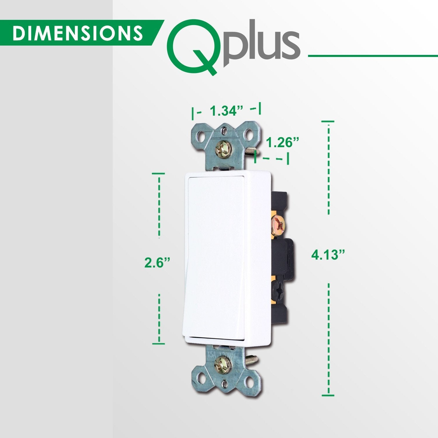 QPlus 3Way Universal Wall Switch with Wall Plate - cUL & FCC Certified - QPlus Home - Brighten Your Life