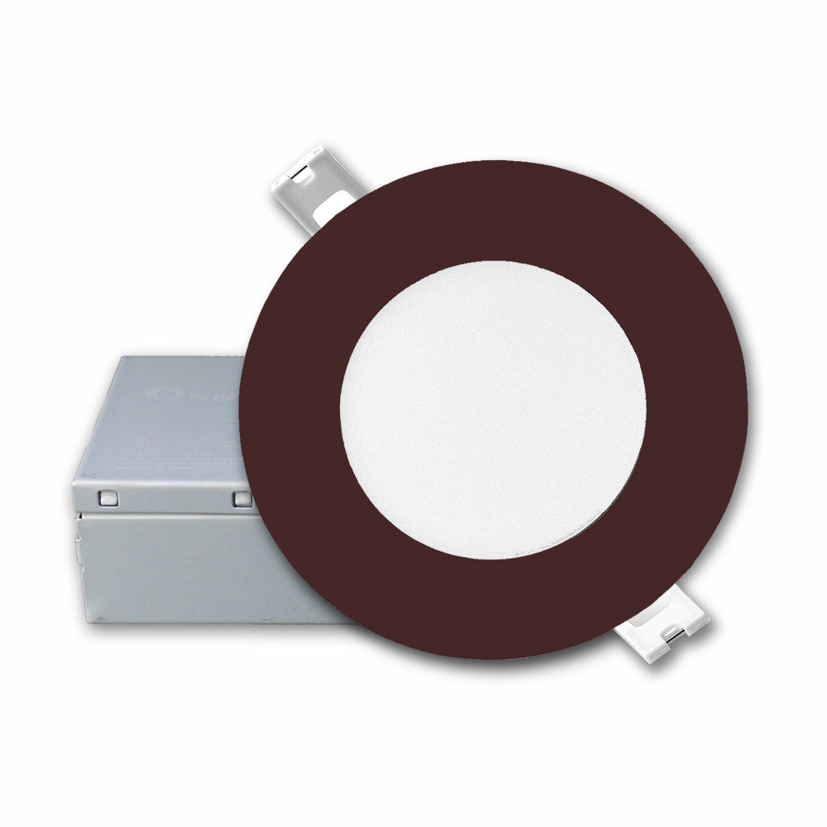 QPlus 4 Inch Slim Recessed LED Pot Lights with Bronze Trim Rings - QPlus Home - Brighten Your Life