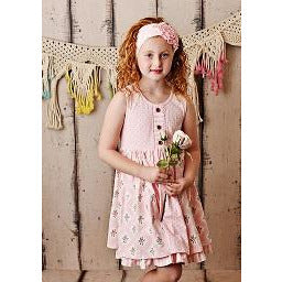 Swoon Baby Prim Tier Dress, Pink Roses