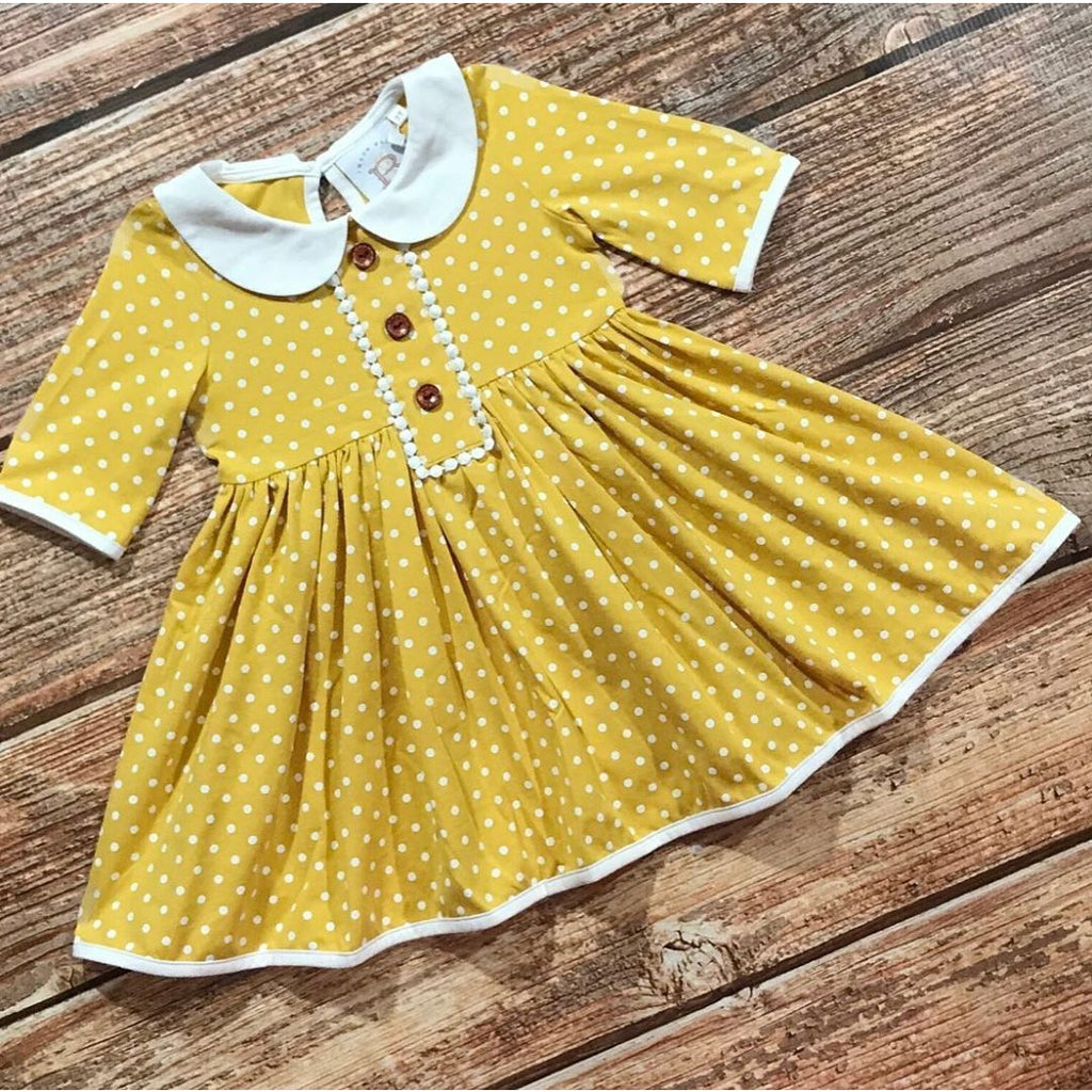Swoon Baby - Petal Swing Dress & Ballet Leggings Set, Little Honey