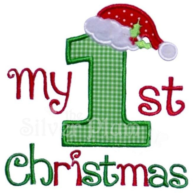 Christmas - My 1st Christmas Applique Design, Number One Christmas, Santa's Hat