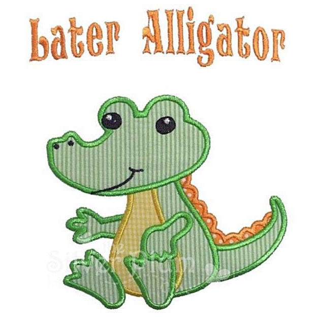 Louisiana/NOLA - Later Alligator Applique Design, Baby Gator