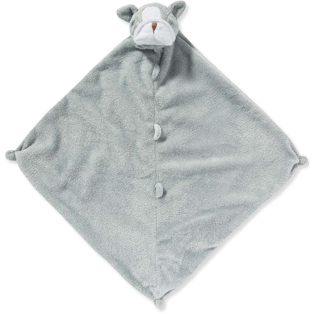 Angel Dear Blankie / Lovie Grey Bulldog - Monogram Available