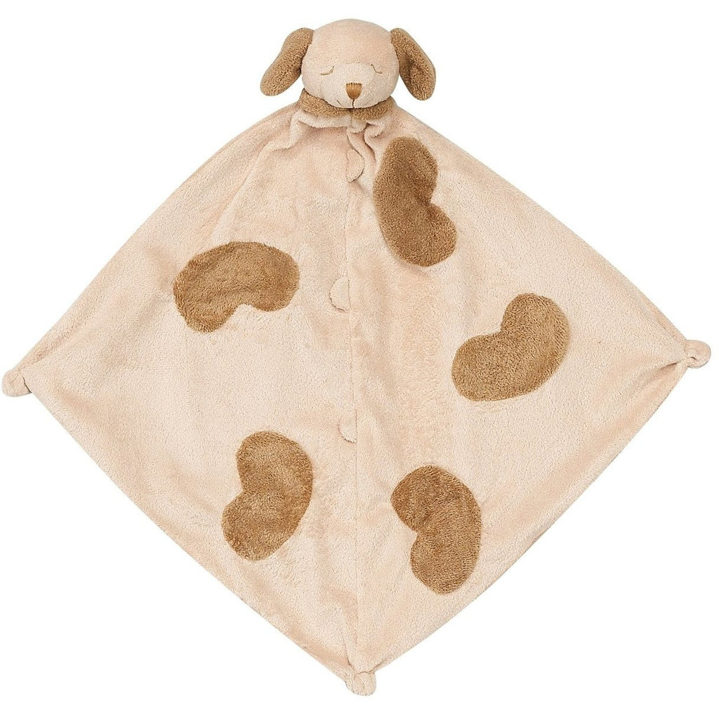 Angel Dear Blankie / Lovie Spotted Tan Puppy - Monogram Available