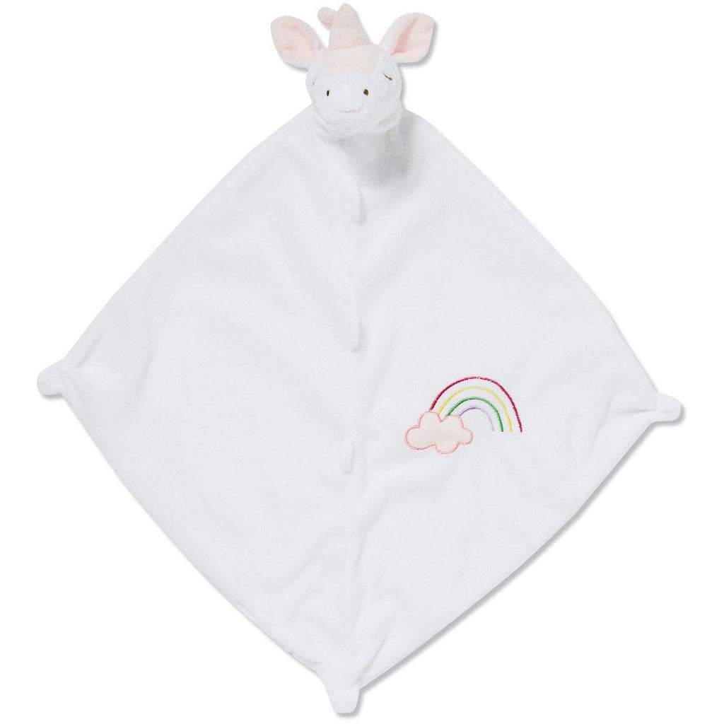Angel Dear Blankie / Lovie White Unicorn - Monogram Available
