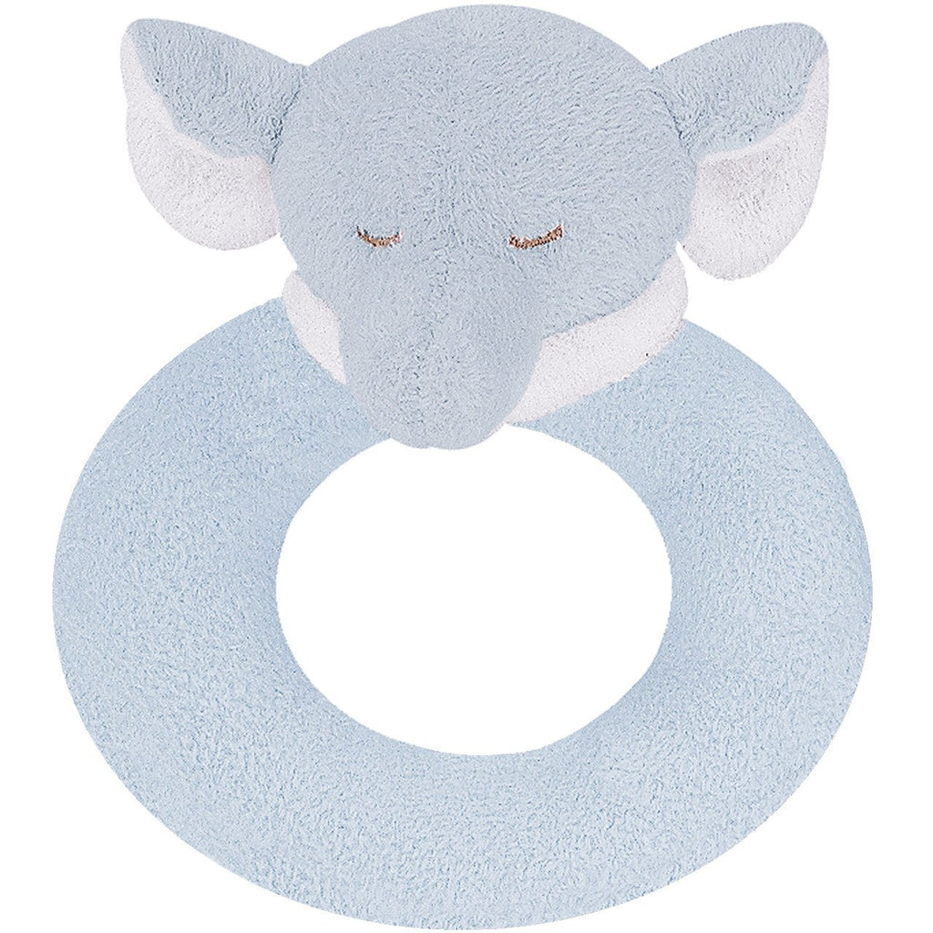 Angel Dear Rattle Ring Blue Elephant
