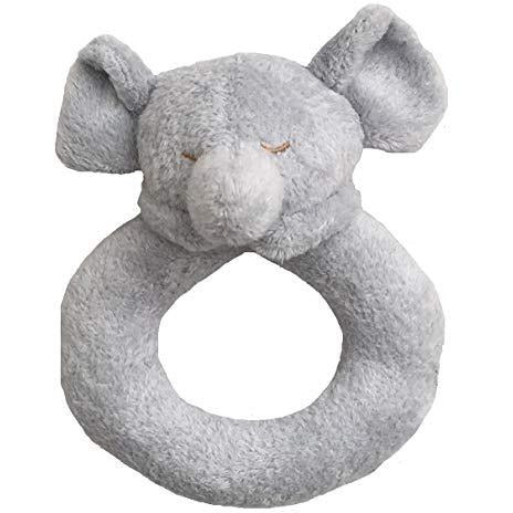 Angel Dear Rattle Ring Grey Elephant