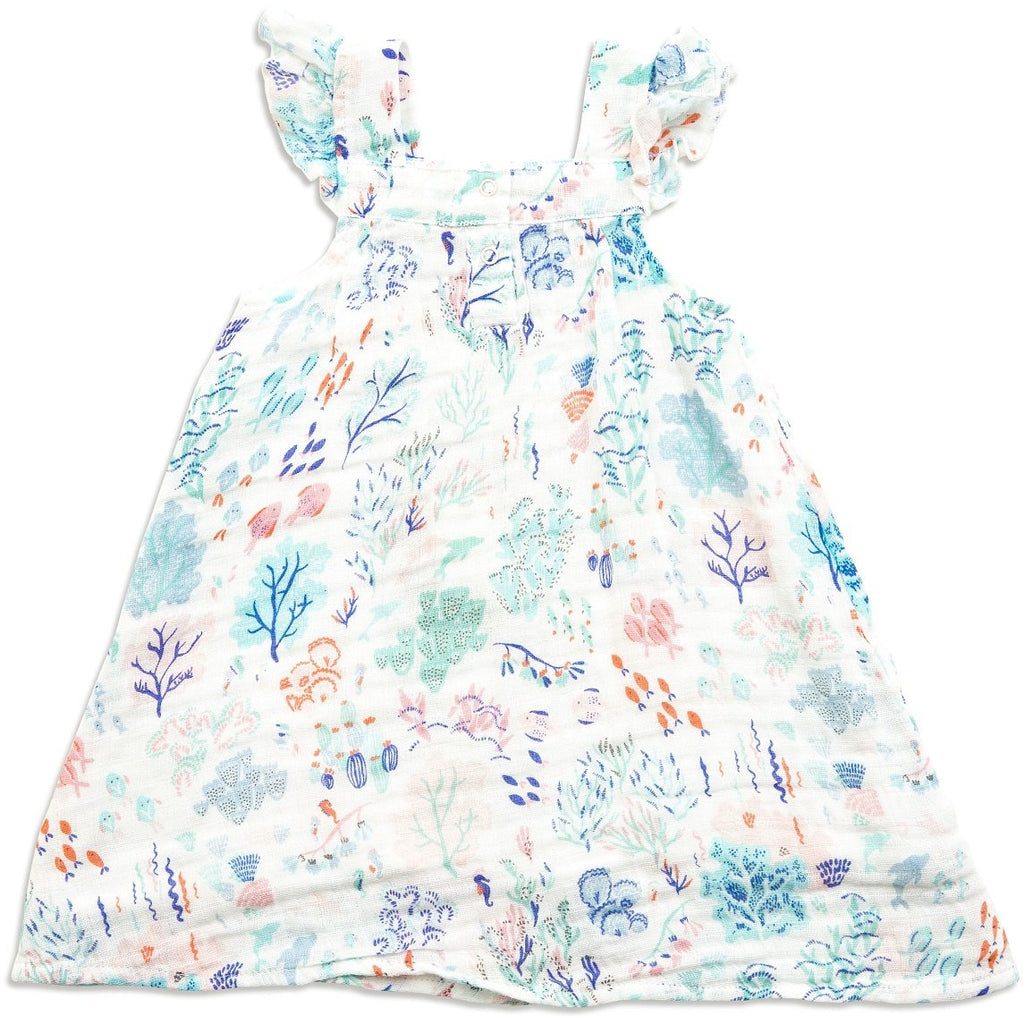 Angel Dear Muslin Sundress, Ditsy Seaworld
