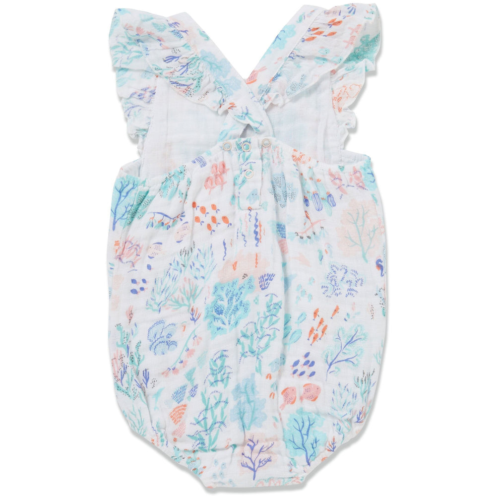 Angel Dear Muslin Girls Sunsuit, Ditsy Seaworld