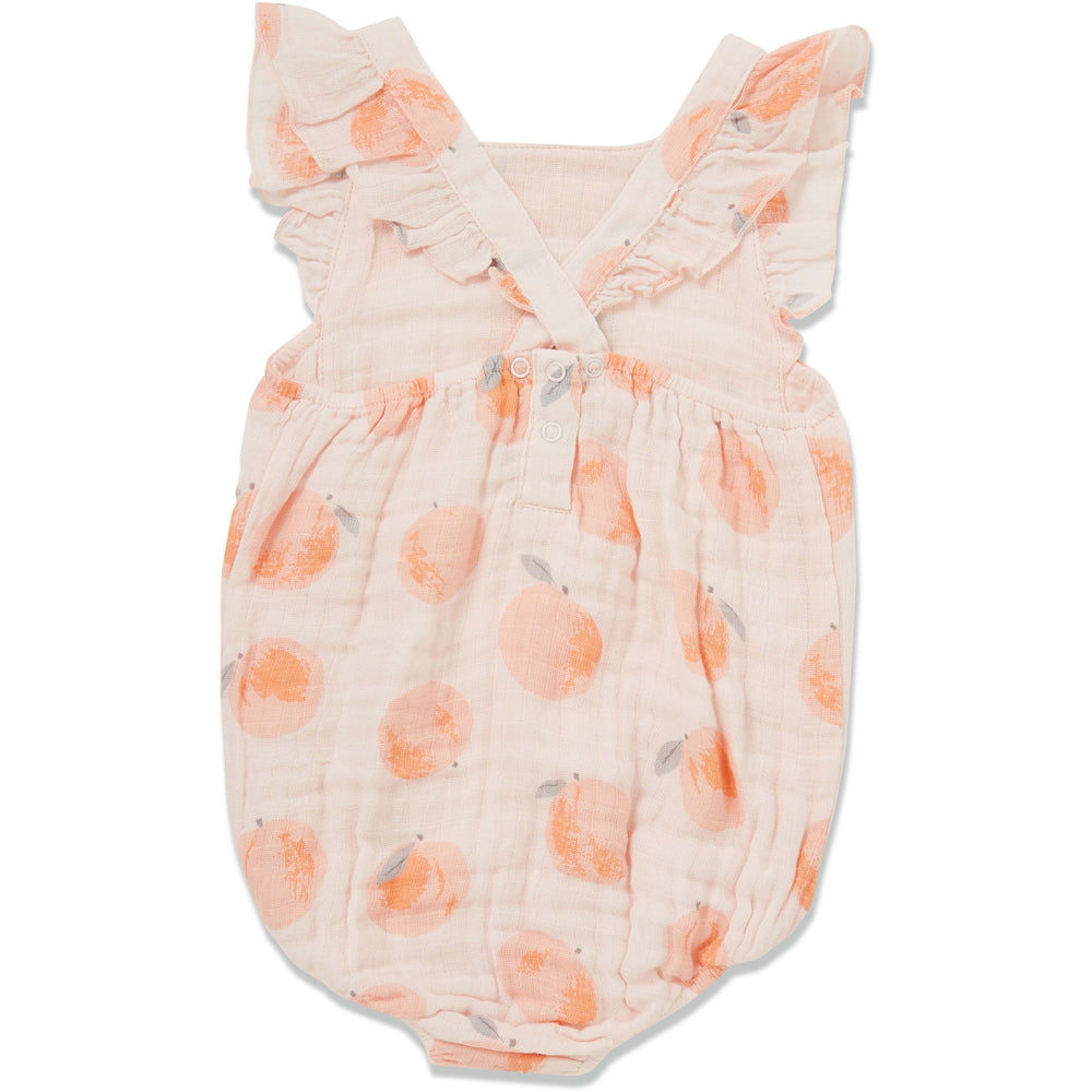 Angel Dear Muslin Girls Sunsuit, Life is Good ~ Peachy