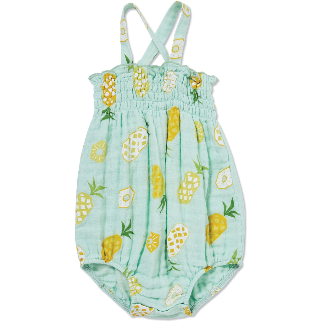 Angel Dear Muslin Girls Sunsuit, Pineapple