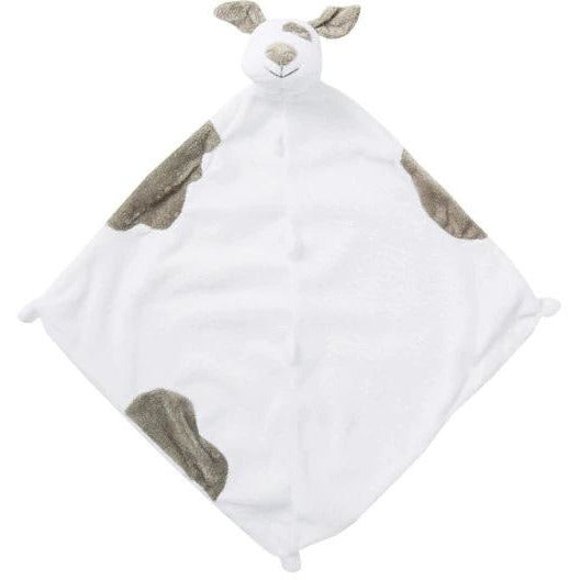 Angel Dear Blankie / Lovie Spotted White/Grey Puppy - Monogram Available