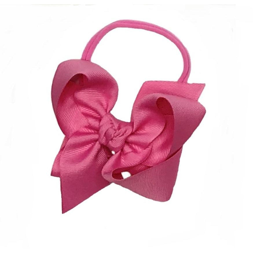 Pantyhose Thin Headband With Grosgrain Bow
