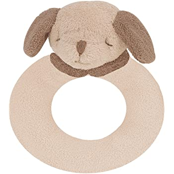 Angel Dear Rattle Ring Brown Puppy