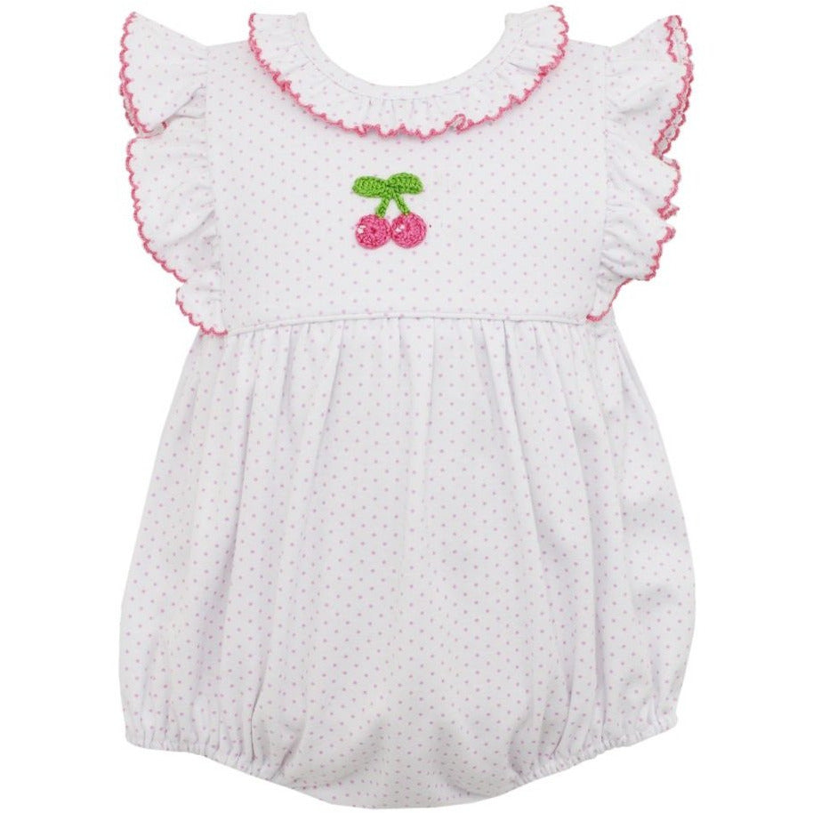Petit Bebe Cherries Bubble w/Ruffles