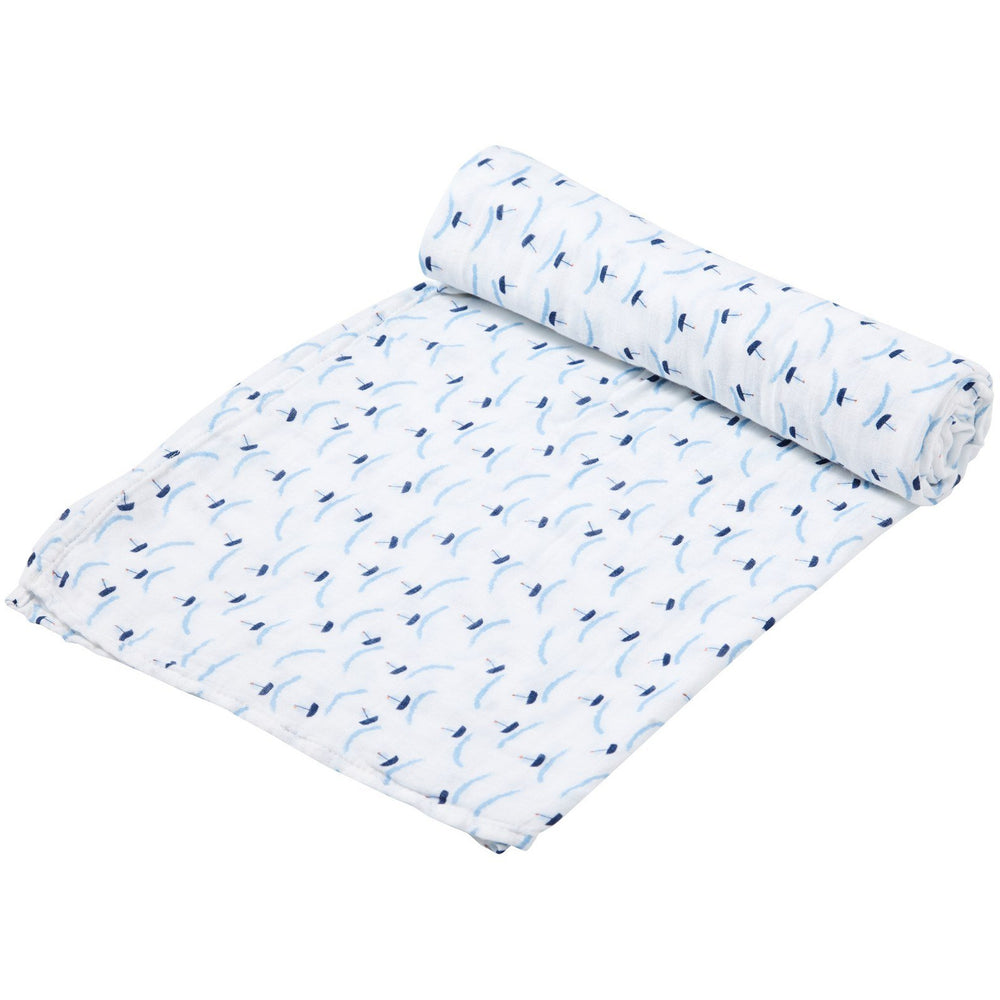 Angel Dear Swaddle Blanket Ditsy Boats
