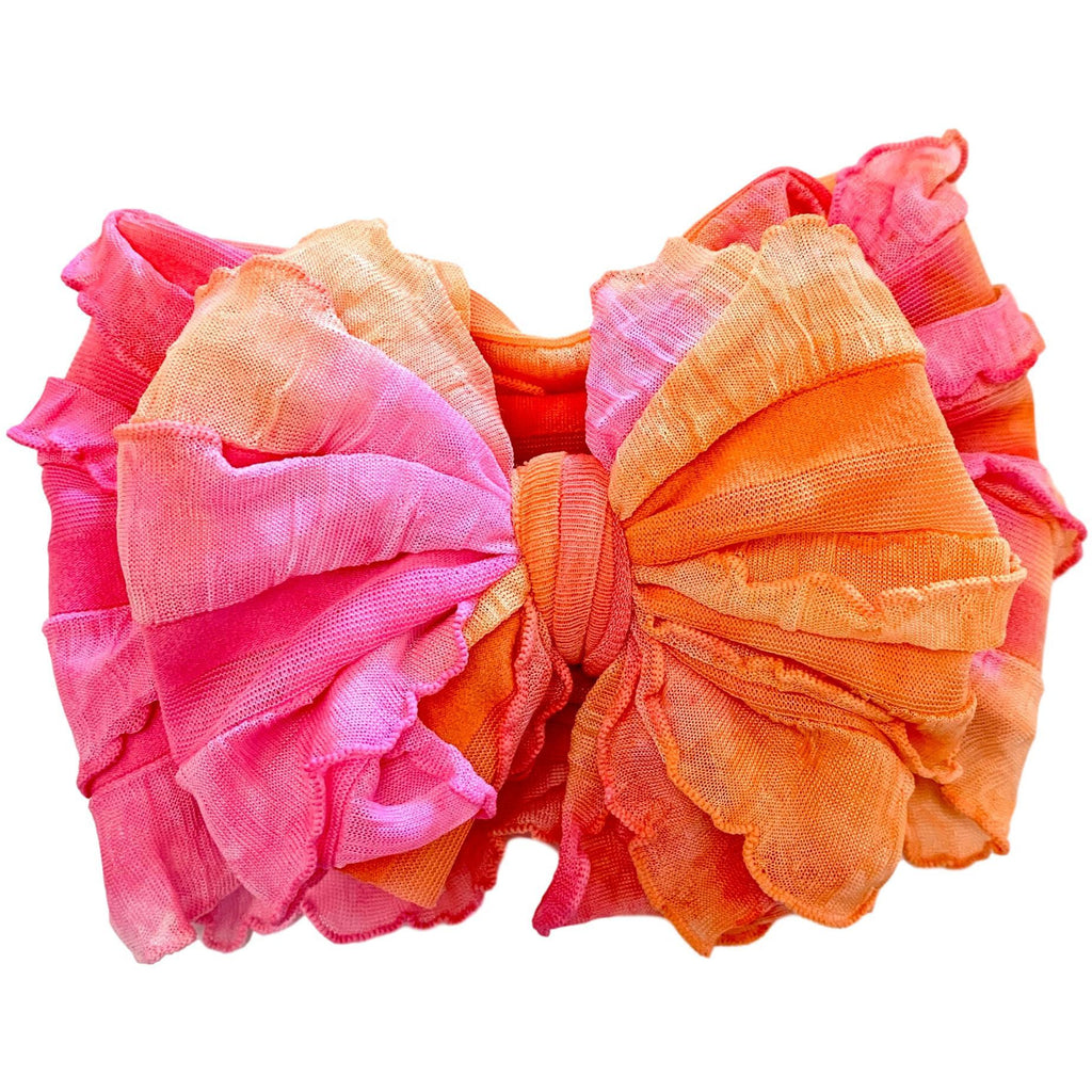 In Awe - Ruffled Headband - Hibiscus