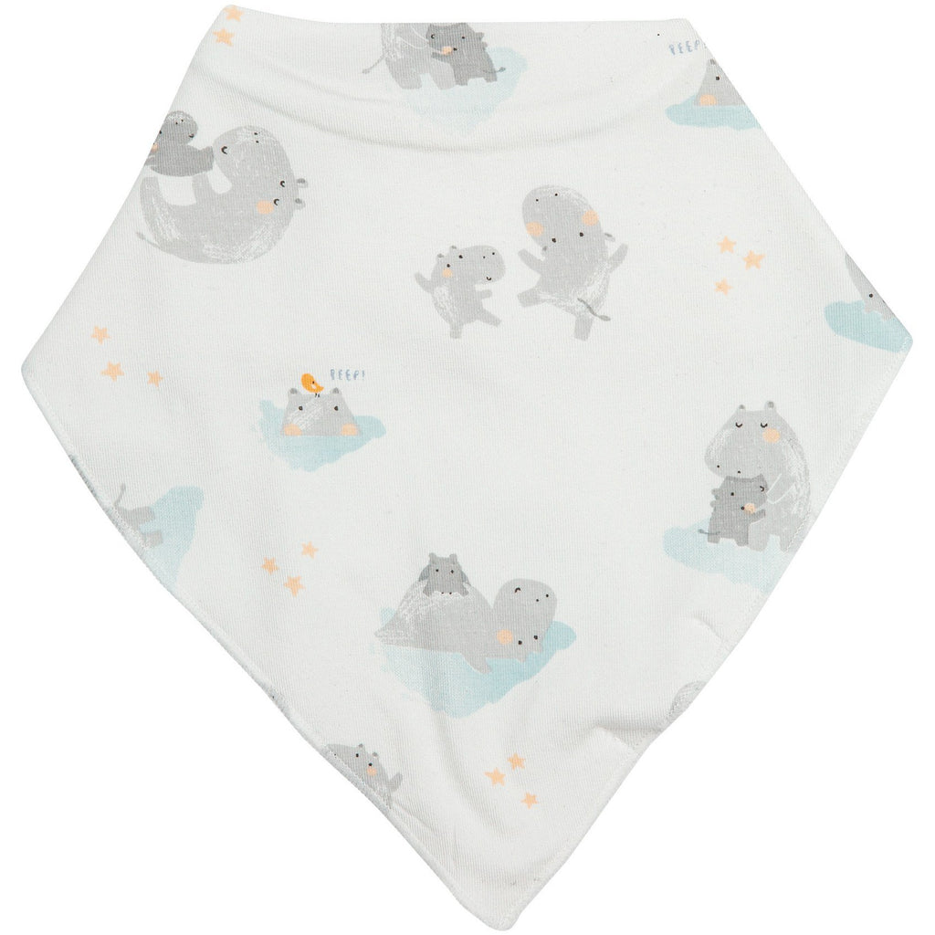 Angel Dear - Hippo Grey Bandana Bib