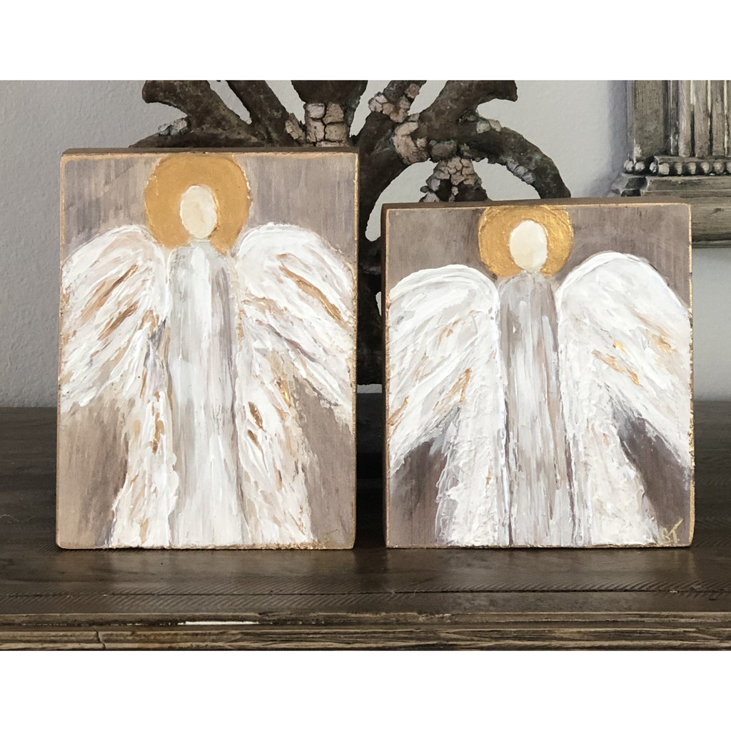 Mon Cher - Wood Plaque Art Angel 5x7