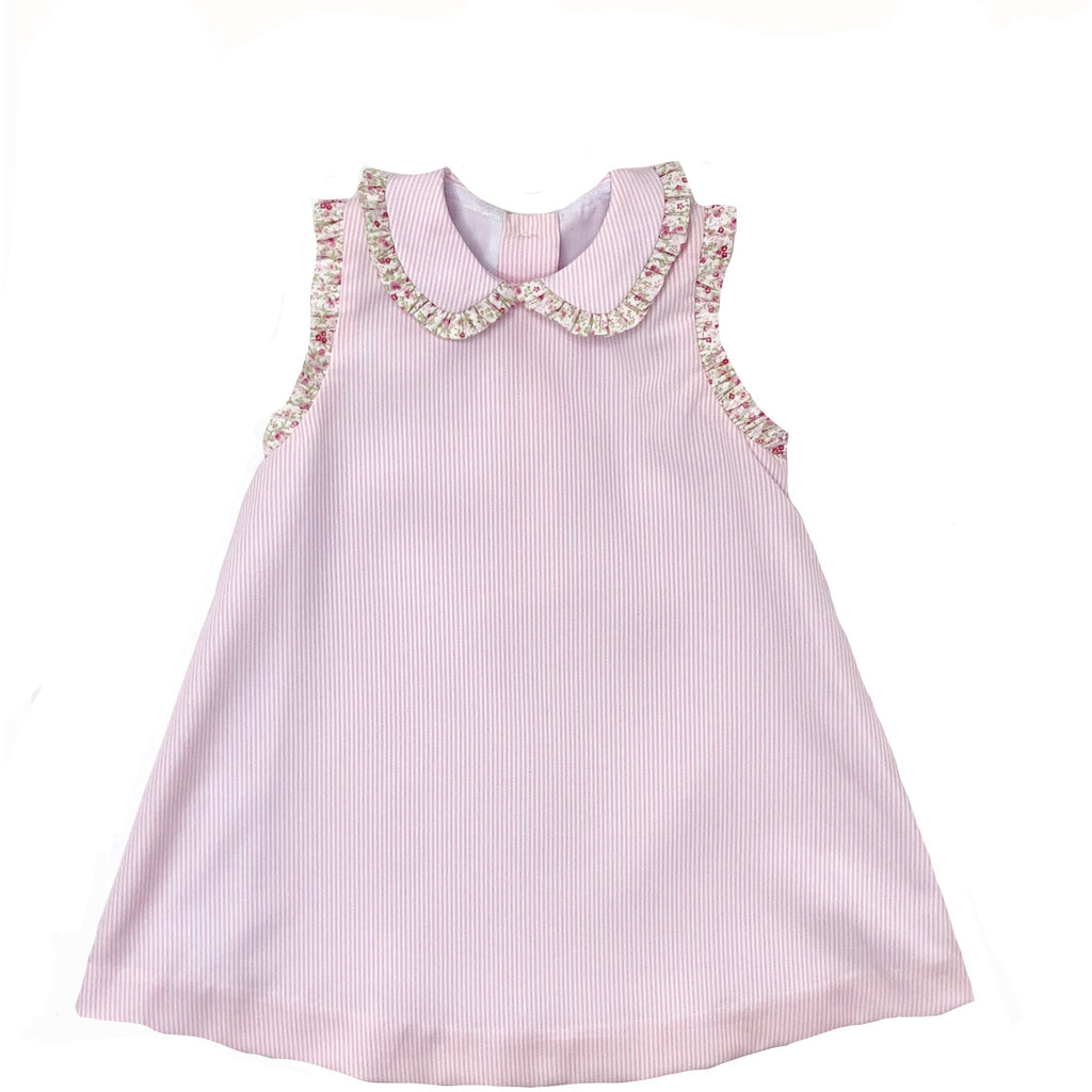Petit Bebe Pink & Rose Print Dress