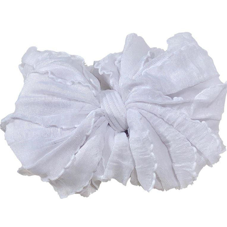 In Awe - Ruffled Headband - White