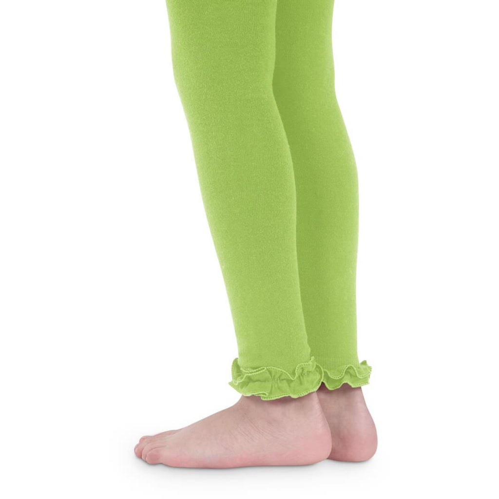 Jefferies Socks - Leggings Ruffled Ankle, Pima Cotton