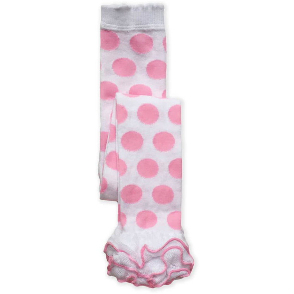 Jefferies Socks - Leggings Dots Ruffled Ankle, Pima Cotton