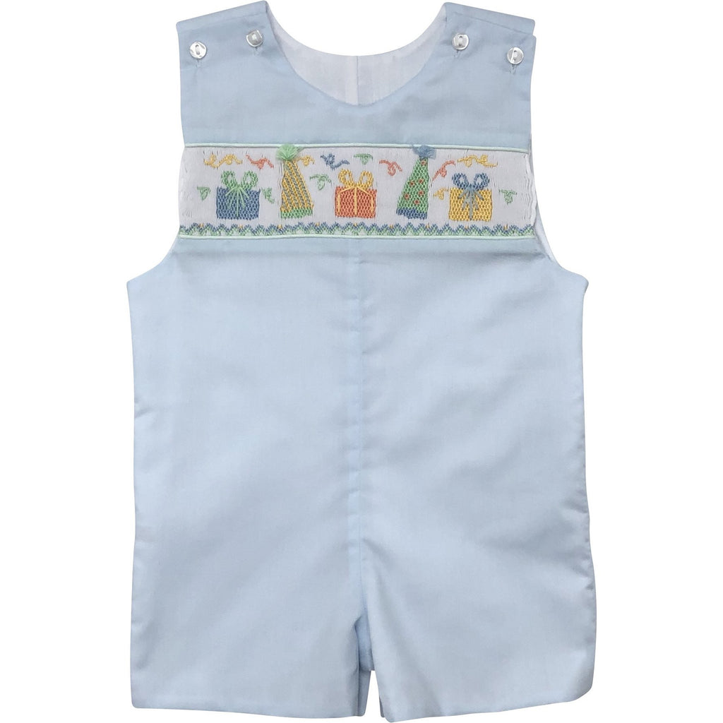 Lulu Bebe Birthday Boy Smocked Shortall