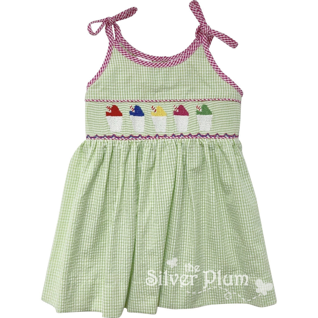 Lulu Bebe Smocked Snowcups Dress