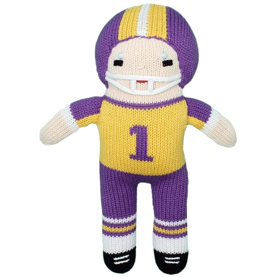 "Zubels LSU Football Player 7"" Rattle"