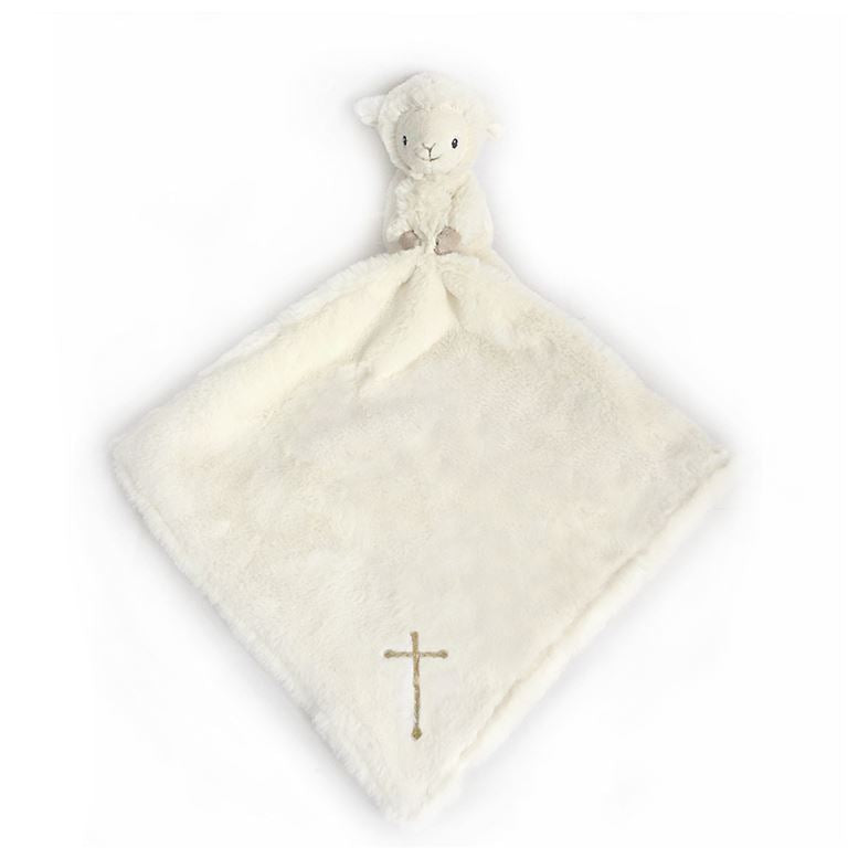 "Mon Ami - ""Lamb"" Lovie with Embroidered Cross"