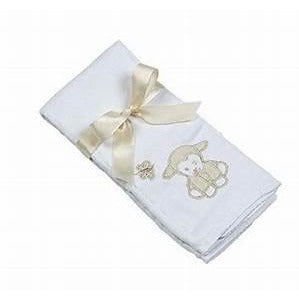 Maison Chic Lillie The Lamb Burp Cloth - Monogram Available