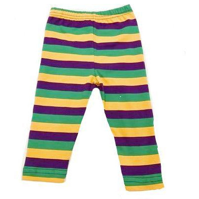 Mardi Gras Stripe Leggings