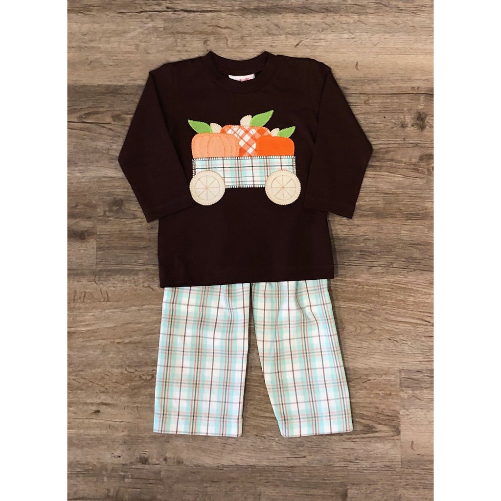 Natalie Grant - Pumpkin Applique Pant Set