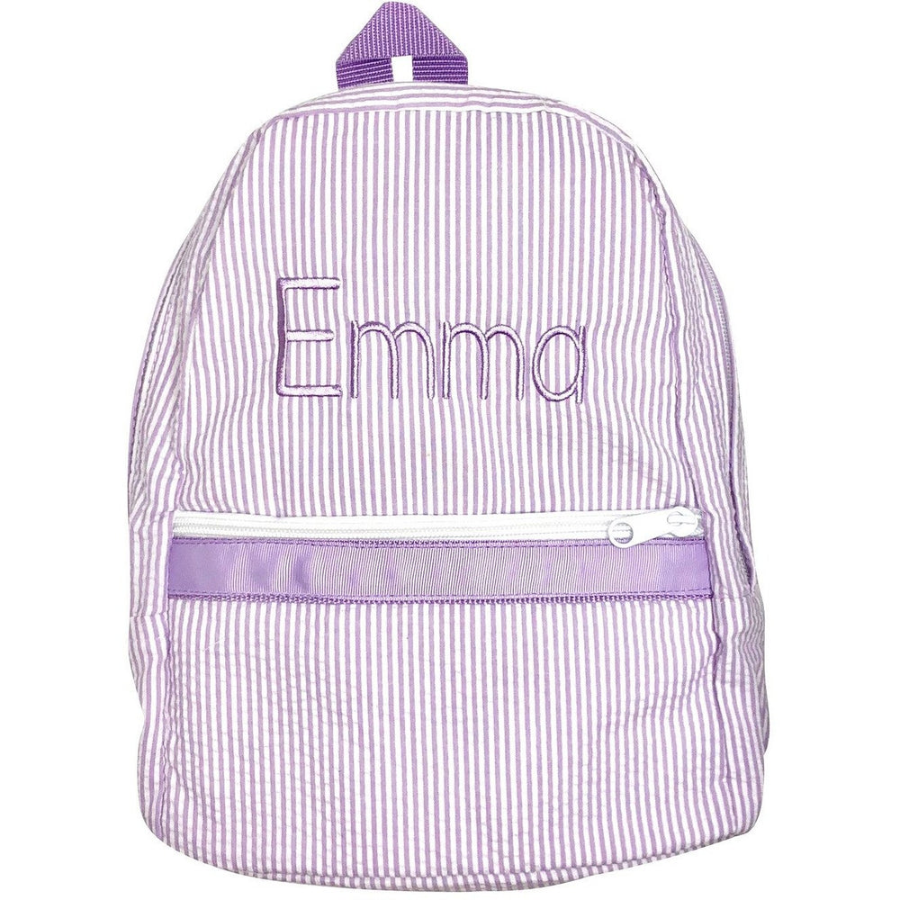 Seersucker Backpack Personalized