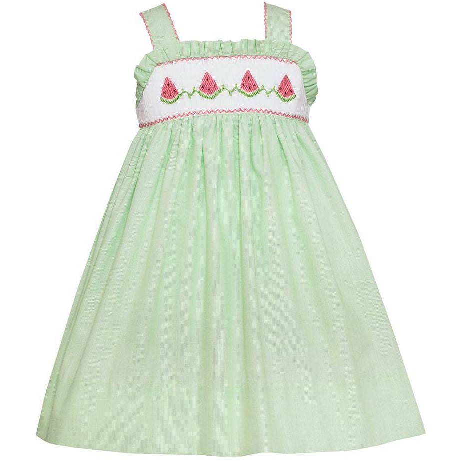 Petit Bebe Watermelon Smocked Strap Dress