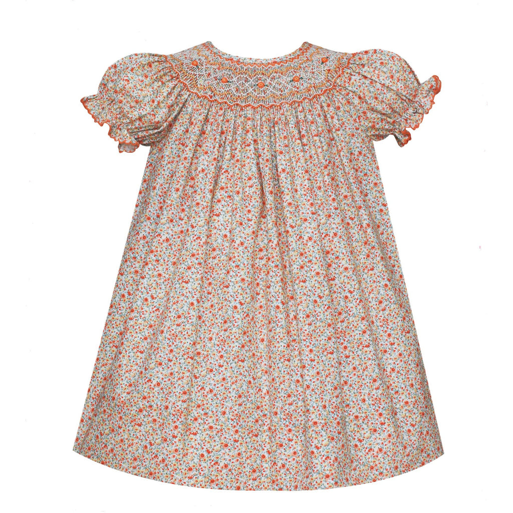 Petit Bebe - Charlotte Bishop, Short Sleeve, Orange Floral
