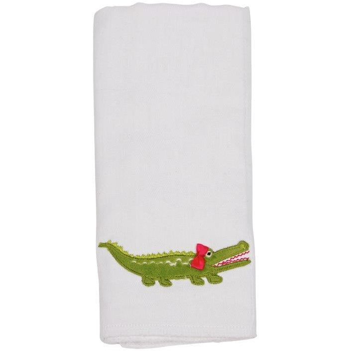 Maison Chic Gabby The Gator Burp Cloth - Monogram Available