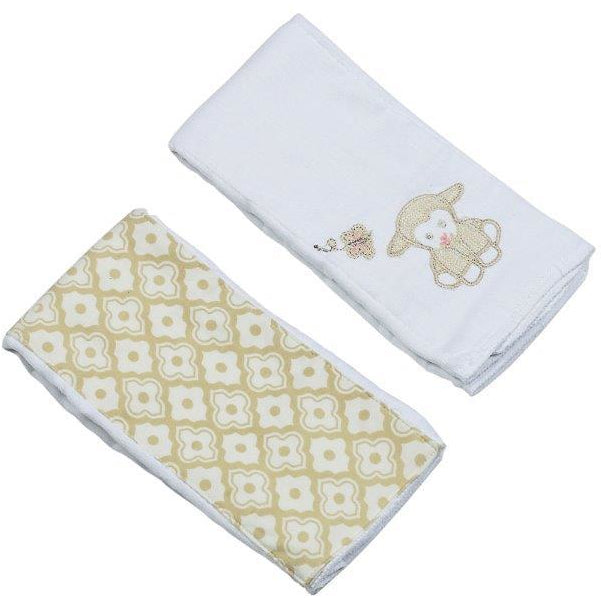 Maison Chic Lillie The Lamb Burp Cloth Set - Monogram Available