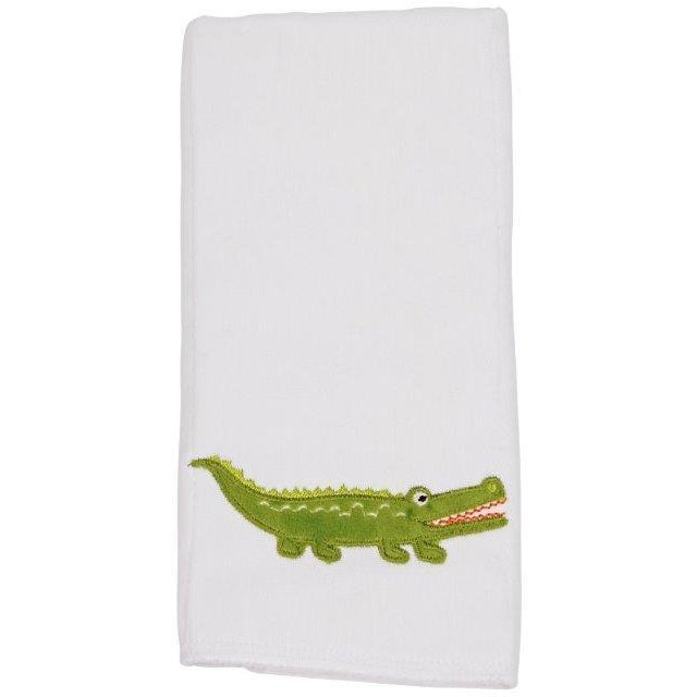 Maison Chic Gary The Gator Burp Cloth - Monogram Available