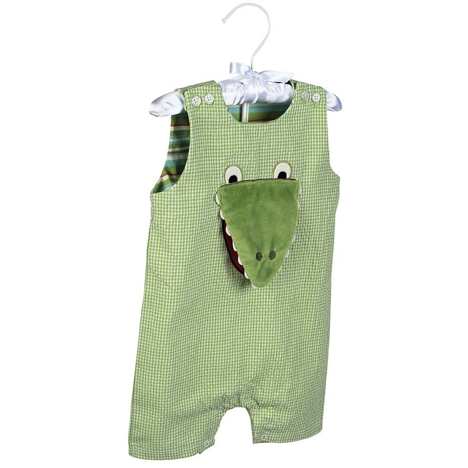 Maison Chic Gary Gator Boys Sunsuit - Monogram Available