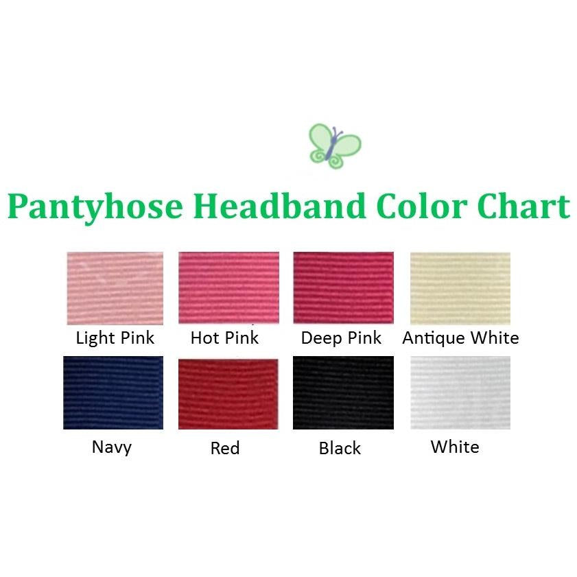 Headband Grosgrain Bow Wide Pantyhose Band