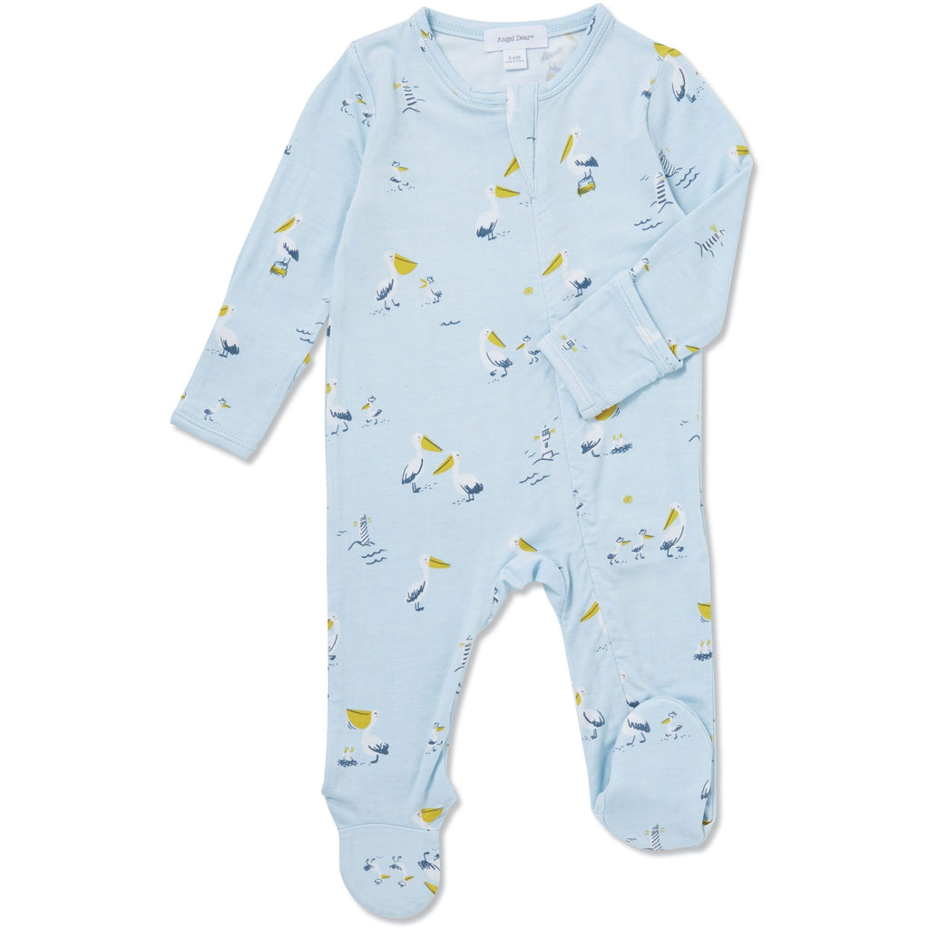 Angel Dear Pelican Family Blue Footie